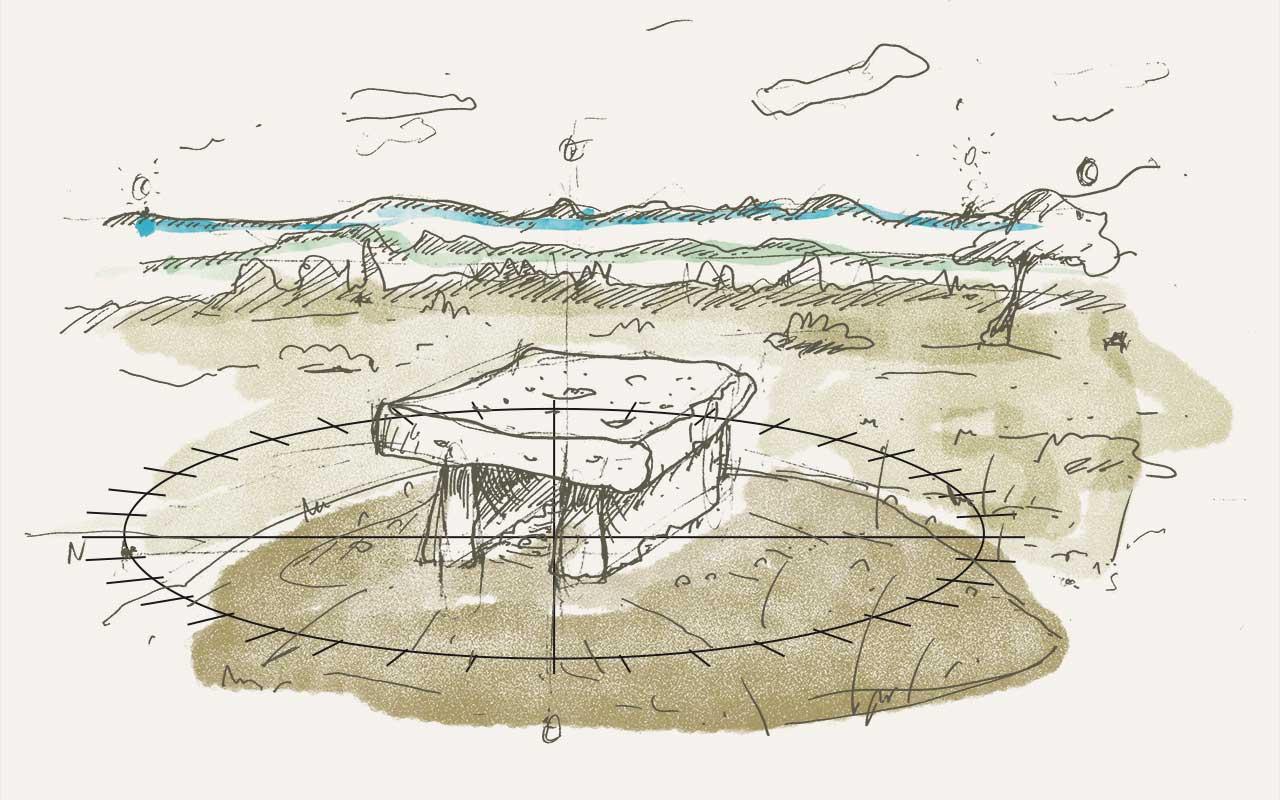 croquis-dolmen Benoit Blein
