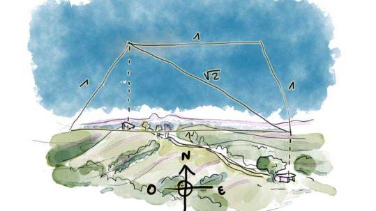 géométrie mégalithes carré bezonnes © benoît blein